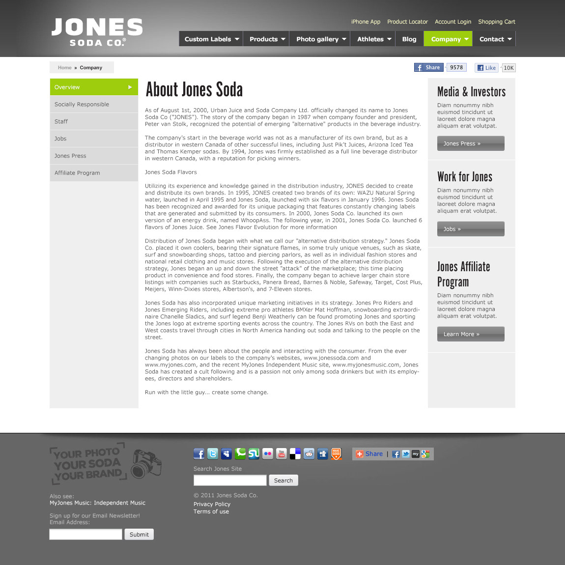 marketing strategy for jones soda distribution Posts about tesla marketing strategy written by pjda paul j d'arcy on  and both are challenging traditional sales models with their own direct distribution system.