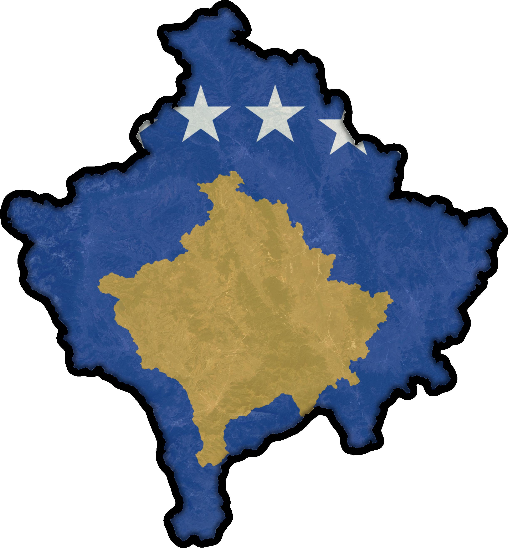 Kosovo Flag Map