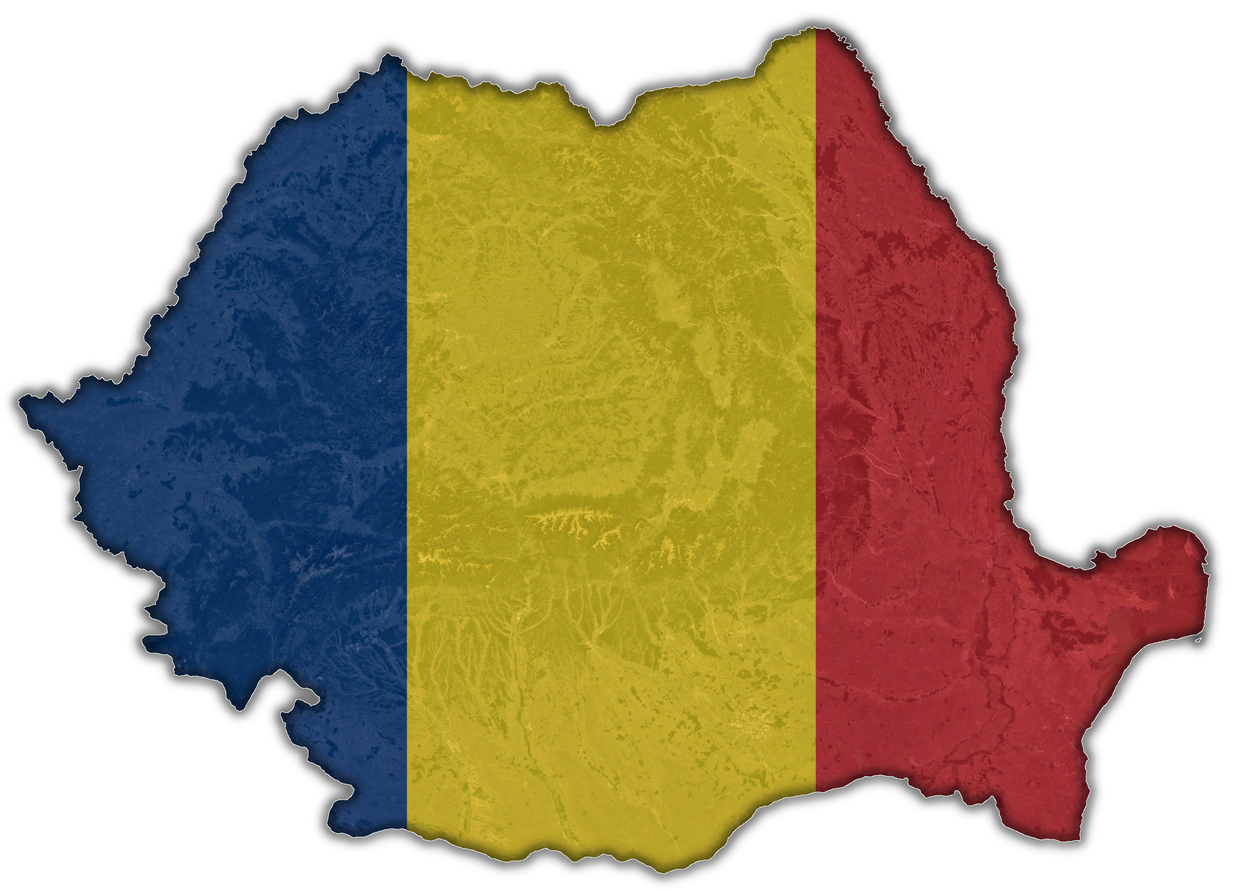 Romania Flag Map