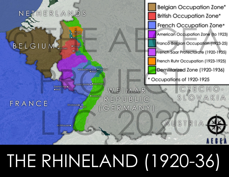 Map of the Rhineland
