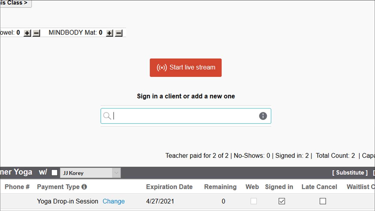 Start Live Stream